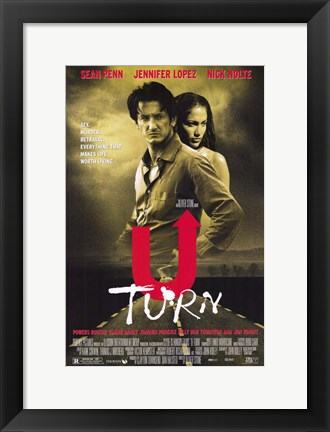 Framed U Turn movie poster Print