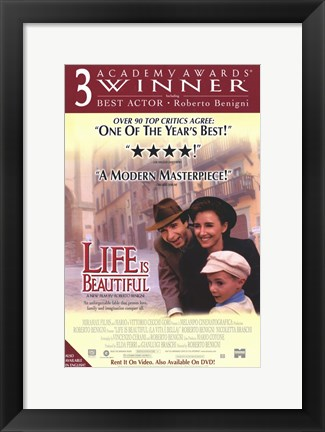 Framed Life is Beautiful Academy Awards Print