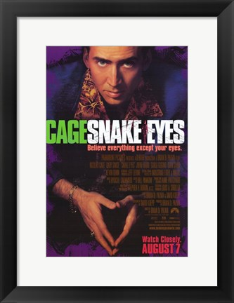 Framed Snake Eyes Print