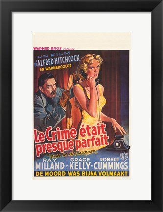 Framed Dial M For Murder - French Print