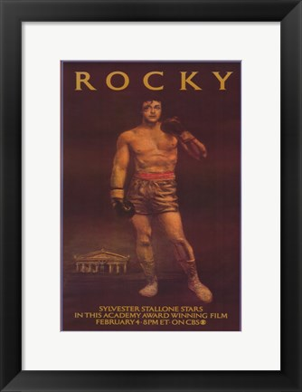 Framed Rocky Brown Print