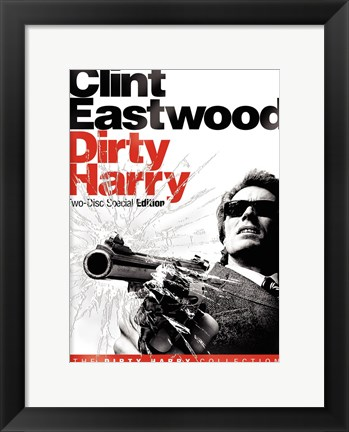 Framed Dirty Harry Black and White Print