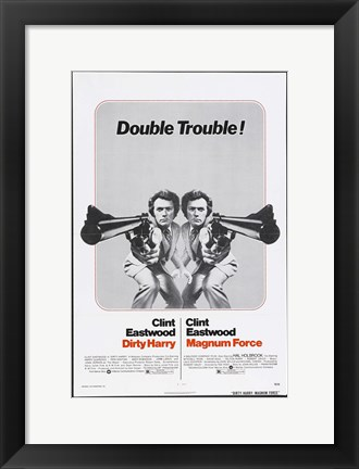 Framed Dirty Harry Double Trouble Print