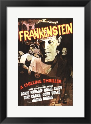 Framed Frankenstein Print