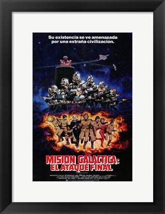 Framed Mission Galactica: The Cyclon Attack Print