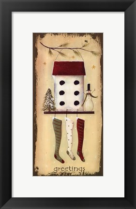 Framed Snowy Greetings Print