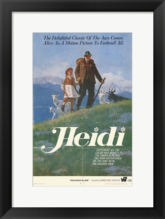 Framed Heidi The Movie Print