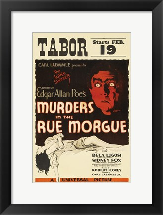 Framed Murders in the Rue Morgue Print