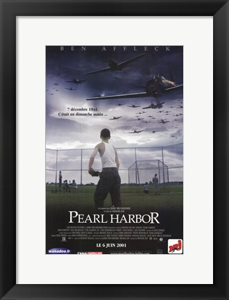Framed Pearl Harbor Baseball Field Print