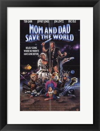 Framed Mom and Dad Save the World Print