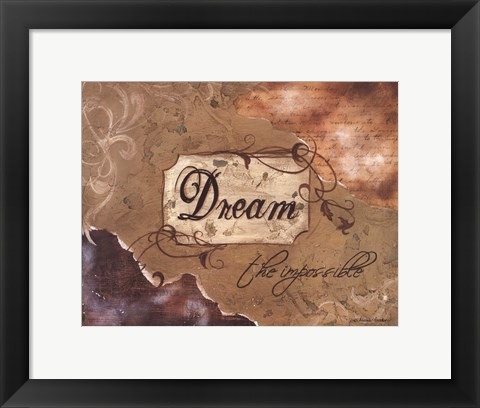 Framed Dream the Impossible Print