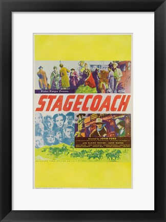 Framed Stagecoach Yellow Border Print