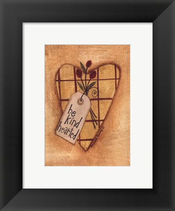 Framed Kind Hearted Print
