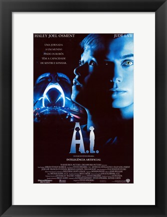 Framed A. I.: Artificial Intelligence Print