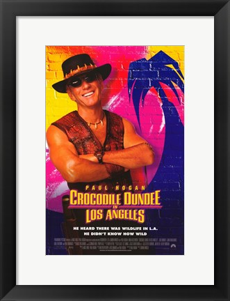 Framed Crocodile Dundee in Los Angeles Print
