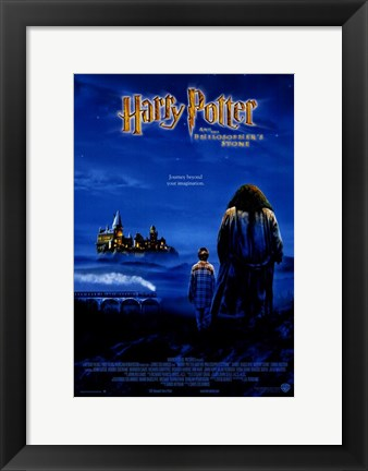 Framed Harry Potter and the Sorcerer's Stone Print