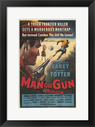 Framed Man Or Gun Print