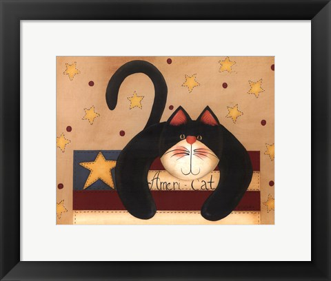 Framed Ameri-Cat Print