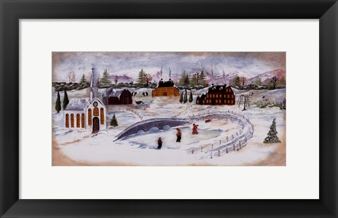 Framed Winter Fun Print