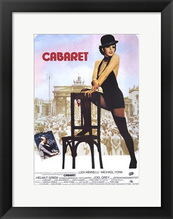 Framed Cabaret Mannielli with Chair Print