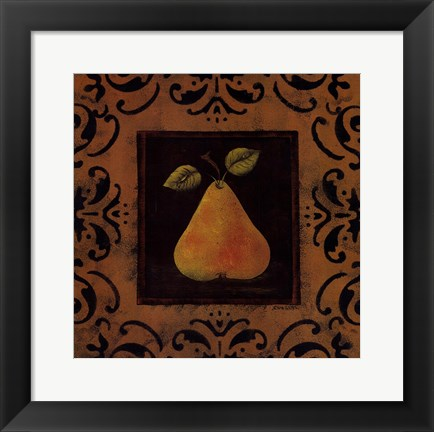 Framed Antique Pear Print