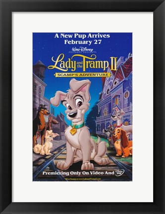 Framed Lady and the Tramp II Print