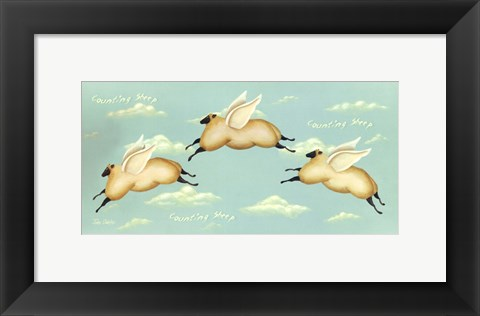 Framed Counting Sheep Print