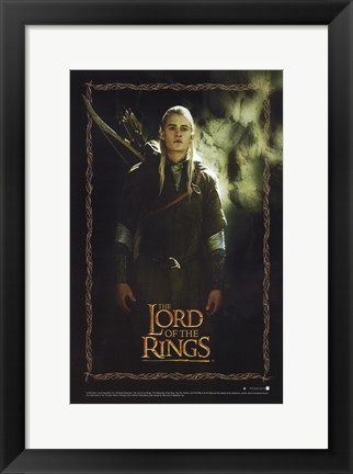 Framed Lord of the Rings: Fellowship of the Ring Legolas Greenleaf Print