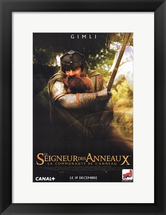 Framed Lord of the Rings: Fellowship of the Ring Gimli Print