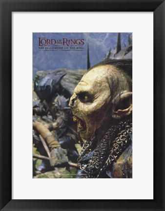 Framed Lord of the Rings: Fellowship of the Ring Orcs Print
