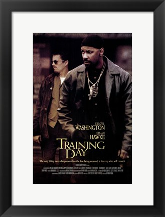 Framed Training Day Denzel Washington Print