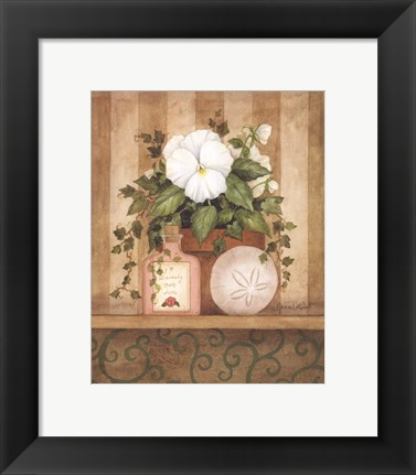 Framed Pansy and Shell Print