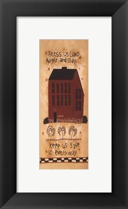 Framed Mini-Bless Us Lord Print