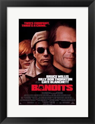 Framed Bandits Bruce Willis Print
