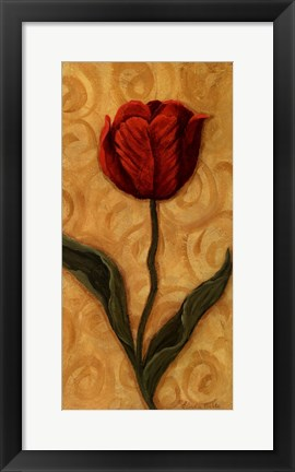 Framed Red Tulip Print