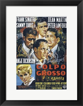 Framed Oceans 11 Colpo Grosso Cast Print