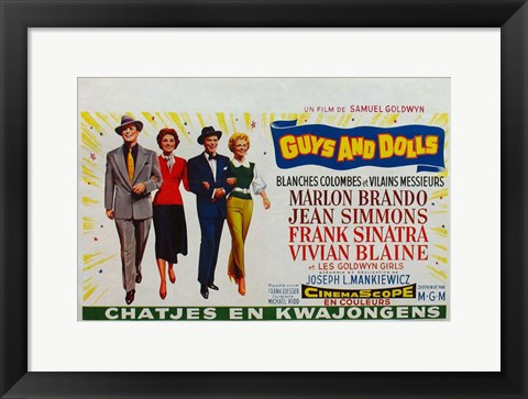 Framed Guys and Dolls (french) Print
