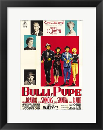 Framed Guys and Dolls Bulli e Pupe Print