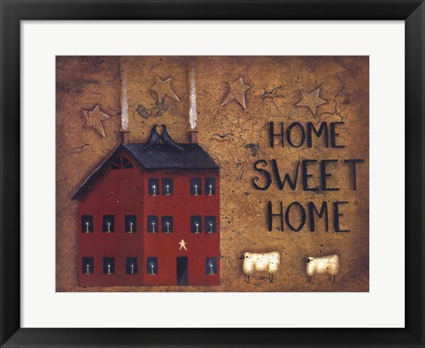 Framed Saltbox Home Sweet Home Print