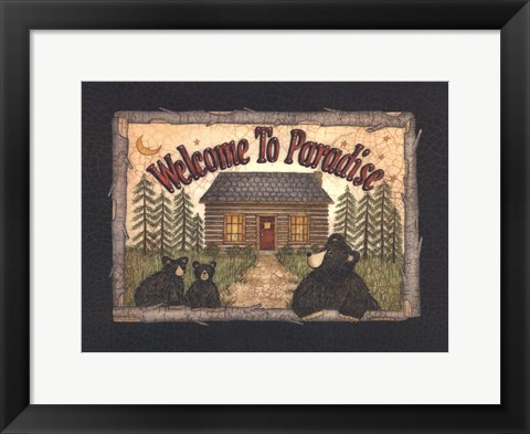 Framed Welcome to Paradise Print