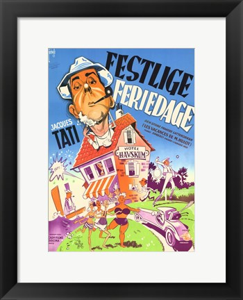 Framed Mr. Hulot's Holiday Print
