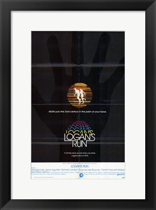 Framed Logan's Run - black Print