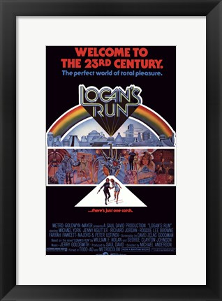 Framed Logan's Run - Welcome to the 23rd century Print