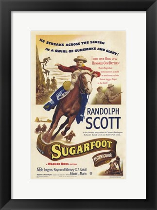 Framed Sugarfoot Print