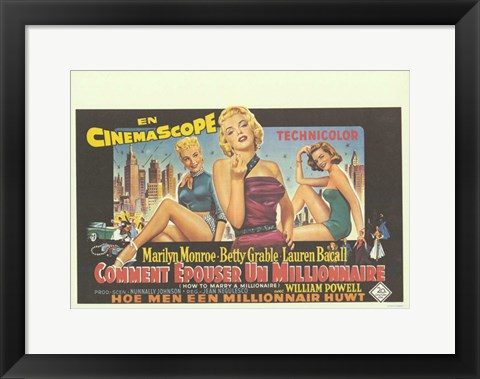 Framed How to Marry a Millionaire Multilingual Print