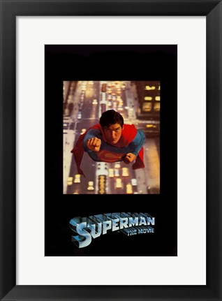 Framed Superman: The Movie Over Traffic Print