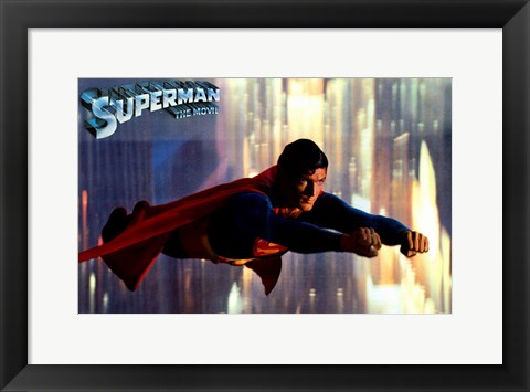 Framed Superman: The Movie Classic Flying Print