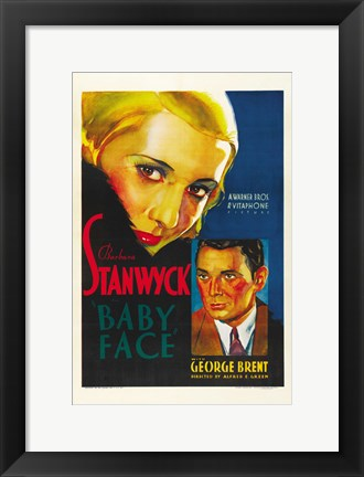 Framed Baby Face Nelson - Stanwyck Print