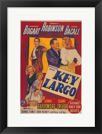 Framed Key Largo Cartoon Print