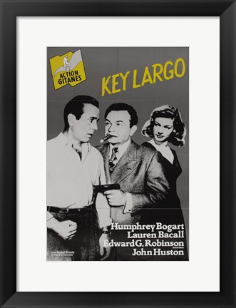 Framed Key Largo Black and Yellow Print